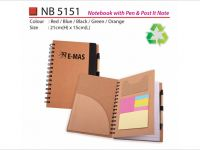 Notebook with Pen & Post It Note NB5151