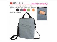<p>Laptop Sling Bag Model: BS 1818 Size: 37(H) x 28(L) x 3(W)cm Material: Polyester Colour: Black / Grey / Red / Green / Orange</p>