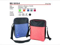 <p>Sling Bag Model: BS 1015-ii Size: 36(H) x 28(L) x 7(W)cm Material: Polyester + 1680 Weight: 300g Colour: Green / Orange / Blue / Grey / Red</p>