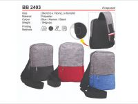 <p>Sling Chest Pouch Knapsack Model: BB 2403 Size: 29(H) x 19(L) x 6(W)cm Material: Polyester Weight: 184g Colour: Black / Red / Blue</p>