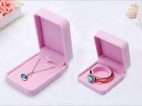 Velvet Ring Necklace Jewelry Box