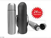 <p>Stainless Steel Vacuum Flask (500ml) with Pouch 24 hours keep warm thermo flask Model: M 1720 Size: 25 x 7cm Wegiht: 400g</p>
