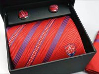 Customised Necktie Cufflinks & Handkerchief Set