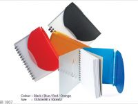 <p>Notebook with Pen Model: NB 1807 Size: 13.5(H) x 10(L)cm Colour: Red / Orange / Blue / Black</p>