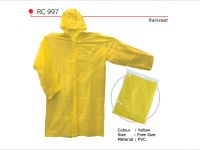 <p>PVC Raincoat Model: RC 997 Size: Free Size Colour: Yellow Material: PVC * Reusable Raincoat</p>