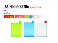 <p>A5 Memo Sport Bottle (450ml) Slim water bottle suitable to put alongside with your documents in bag. Material: PC Size: 18.5(H) x 13(L)cm Capacity: 450ml Colour: Green […]</p>
