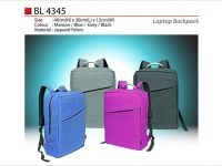 <p>Laptop Backpack Model: BL 4345 mgoh Size: 40(H) x 30(L) x 12(W)cm Material: Jaquard Fabric Colour: Maroon / Blue / Grey / Black</p>