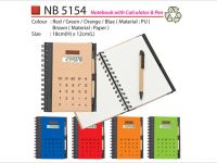 Notebook with Calculator & Pen NB5154