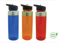 Colour Bottle with Straw 750ml
