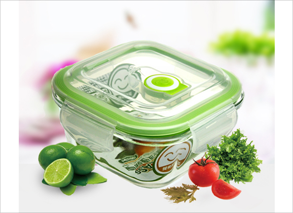 Tempered Airtight Glass Container (400ml)