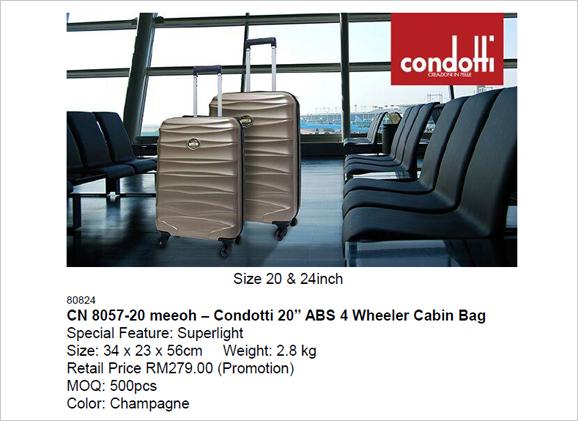 Condotti – 20 inch ABS Cabin Bag