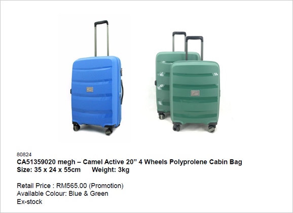Camel Active 20 inch 4 Wheels Polyprolene Cabin Bag