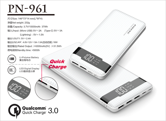 Pineng Powerbank (10,000mAh) PN-961