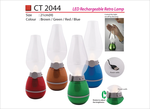 LED Rechargeable Retro Lamp CT2044