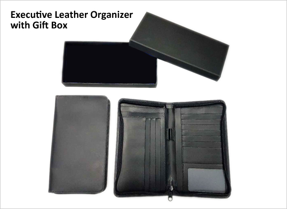 Executive Leather Organizer Portfolio