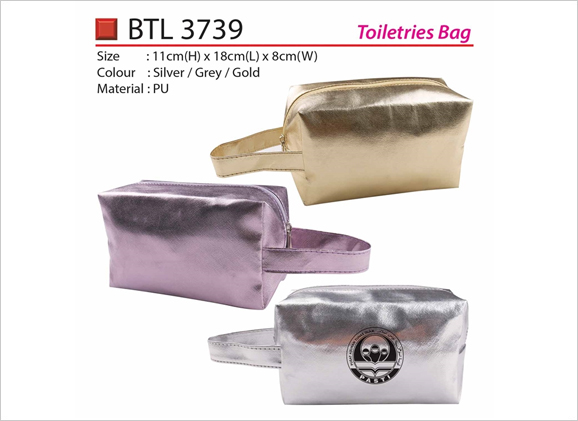 Shining PU Toiletries Bag BTL3739