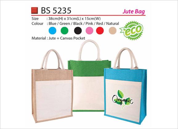 Jute Bag with Pocket BS5235