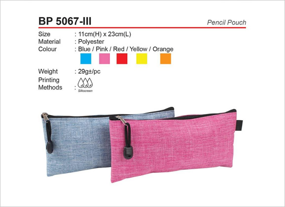 Polyester Zipper Pencil Pouch BP5067iii