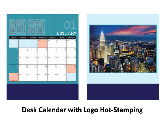 Desk Calendar with Logo Hot-Stamping