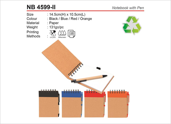 Recyclable Notebook with Pen NB4599 ii