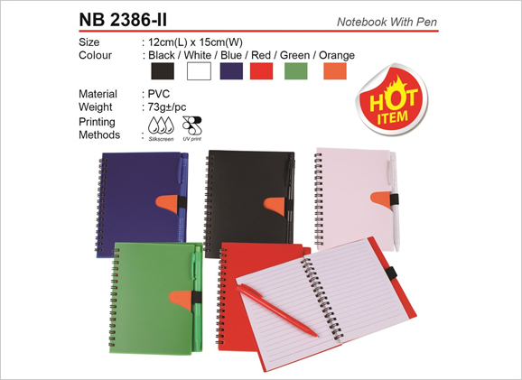 Notebook with Pen NB2386ii