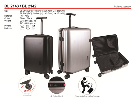 Exclusive Trolley Luggage Bag BL2143 BL2142