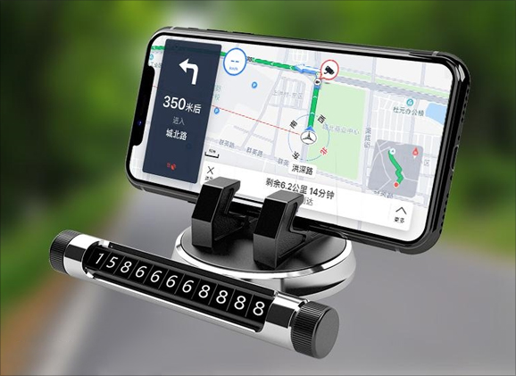 Car Dashboard Mobile Phone Holder with Contact Display
