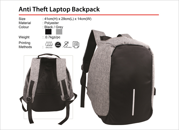 Anti Theft Laptop Backpack BL1757 BL 1757