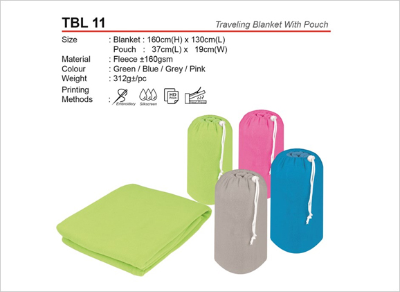 Traveling Blanked with Pouch TBL11