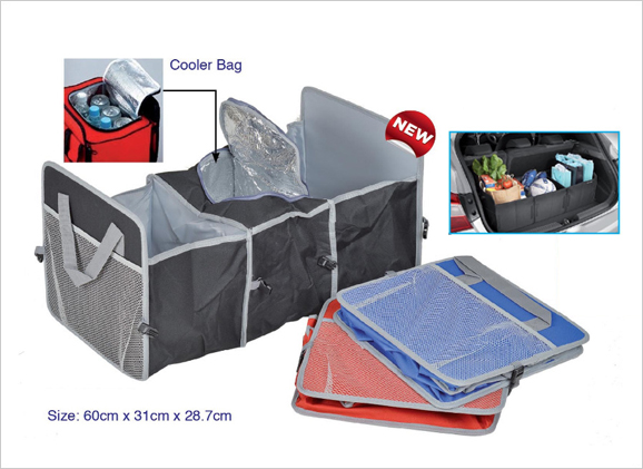 Car Boot Organizer with Cooler Bag
