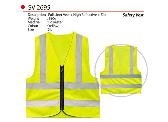 Safety Vest with Reflective Strips SV2695