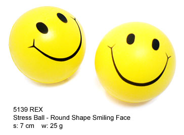 Round Stress Ball with Smiley