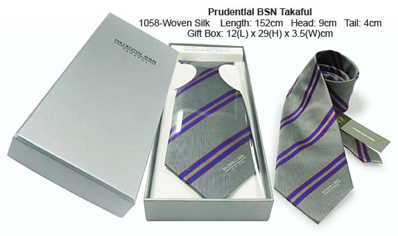 Prudential BSN Takaful Custom Made Silk Woven Necktie