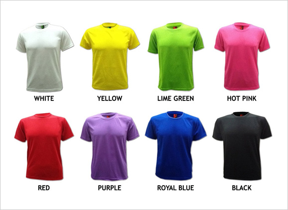 Dry Fit Round Neck Microfiber T Shirt Malaysia Corporate