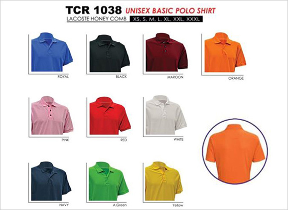 Unisex basic polo shirt lacoste honey comb malaysia for T shirt supplier wholesale malaysia