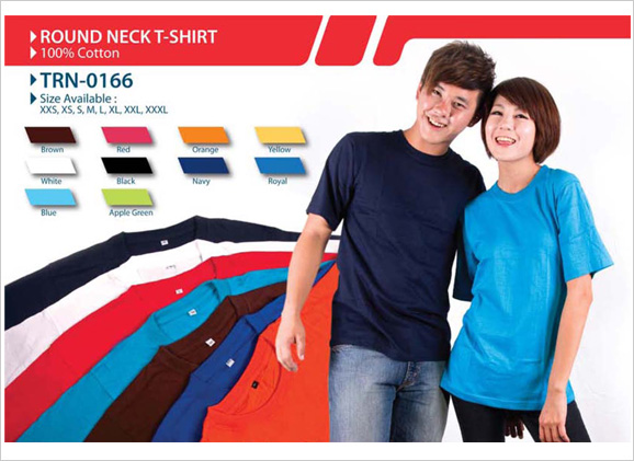 100 cotton round neck t shirt malaysia corporate gift for T shirt supplier wholesale malaysia