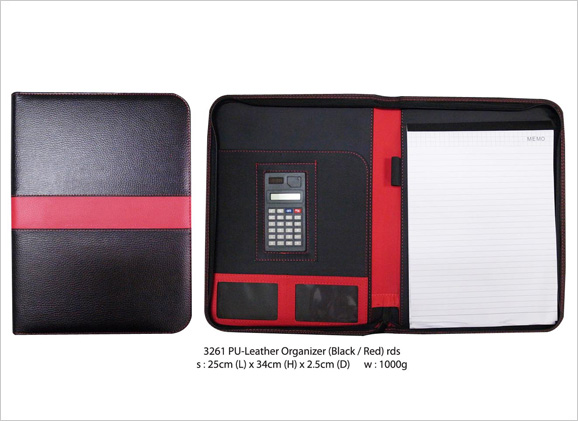 A4 PU Leather Organizer with Calculator & Notepad 3261