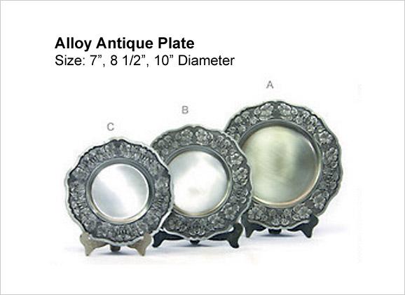 Alloy Antique Plate