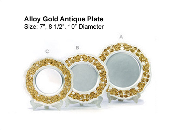 Alloy Gold Antique Plate