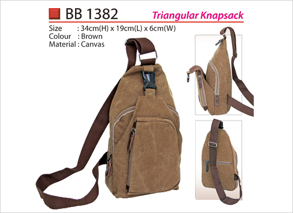 Triangular Canvas Knapsack BB1382