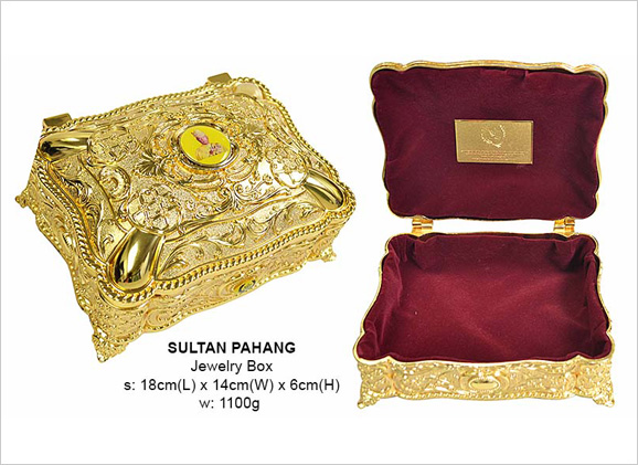 Exclusive Gold Jewelry Box Sultan Pahang