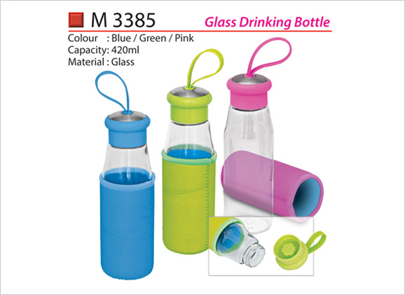 Glass Drinking Bottle M3385
