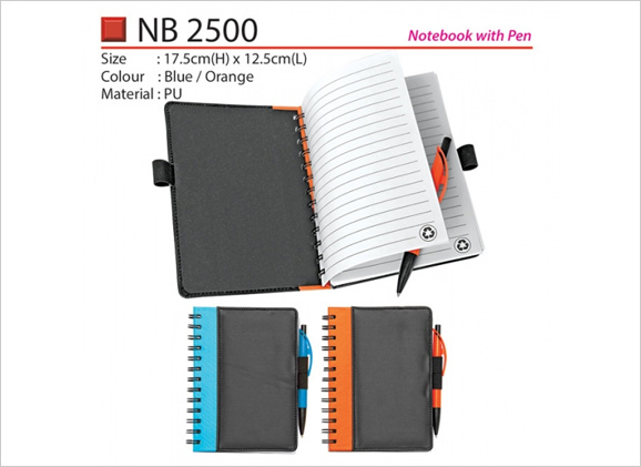 PU Notebook with Pen NB2500