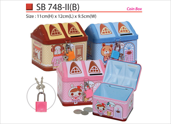 House Shape Coin Box SB748iiB 748