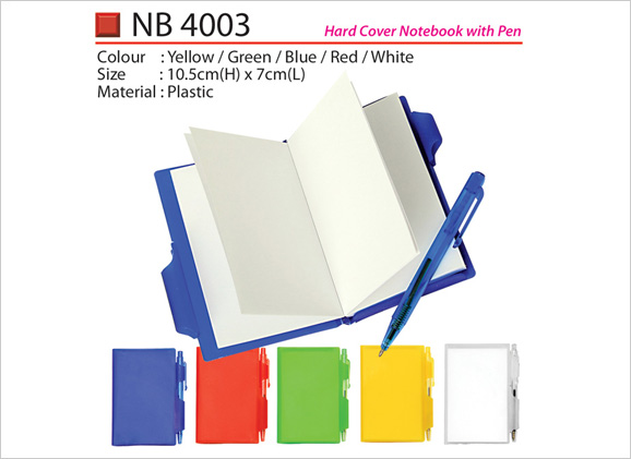 Hard Cover Notebook with Pen NB4003