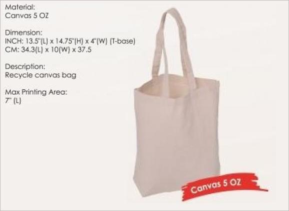 Canvas Bag 5oz SPB167