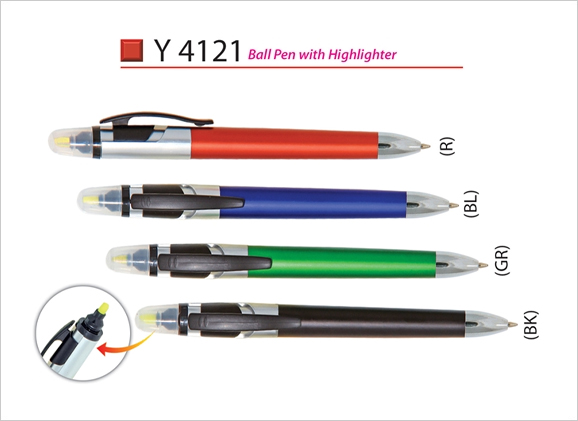 Ball Pen with Highlighter Y4121