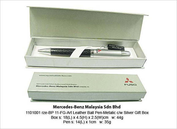 1101001rze-BP11-FG Art Leather Ball Pen Mercedes Benz 90304