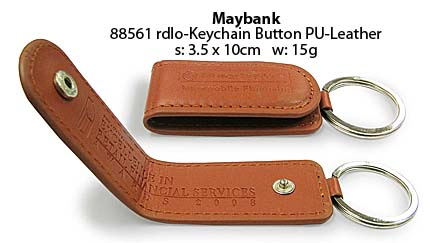 Keychain Button PU-Leather