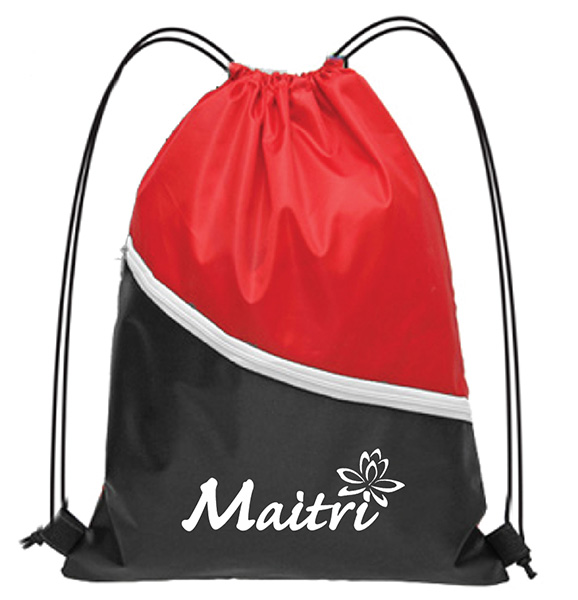 Drawstring Bag with Zip BS3368